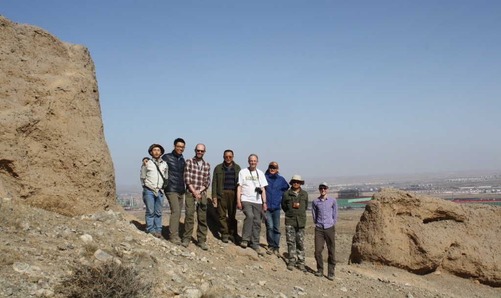 Figure 6: The field team at the site of the break in the Great Wall of China.
