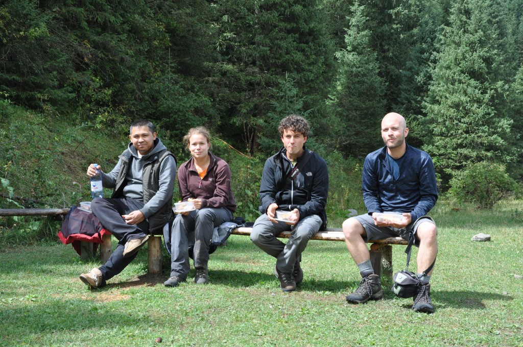 The field work team, without Christoph Grützner who took the photo.