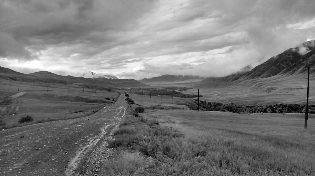 Approaching Saty in the Chilik River valley.