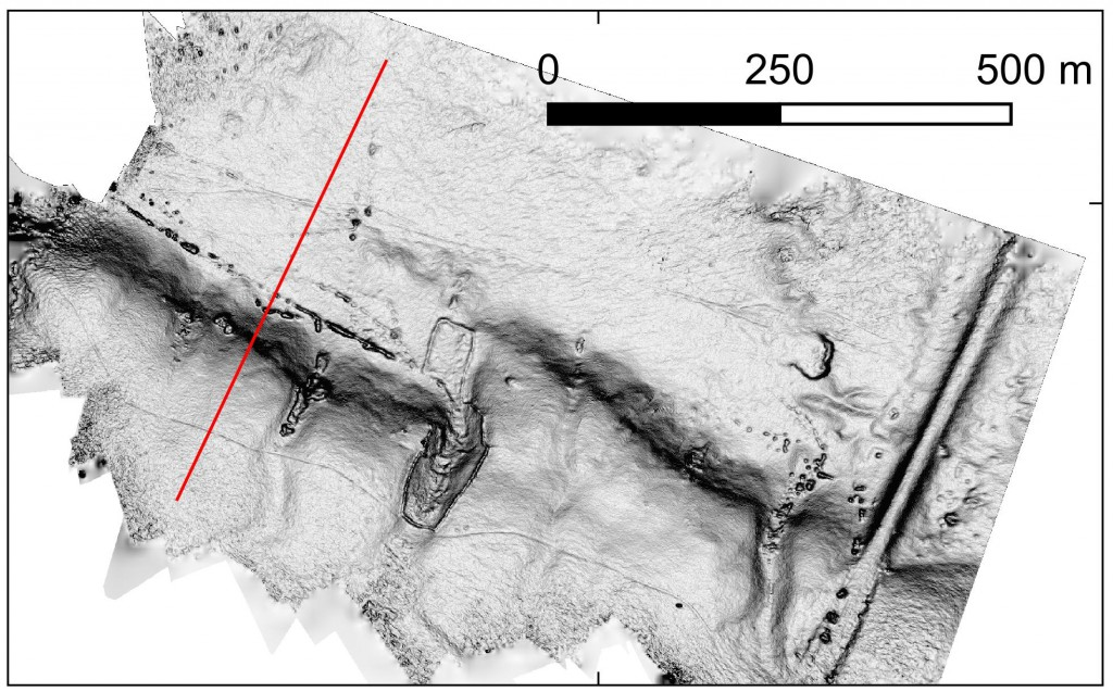 Example of a high-resolution DEM of a fault scarp in Kazakhstan.