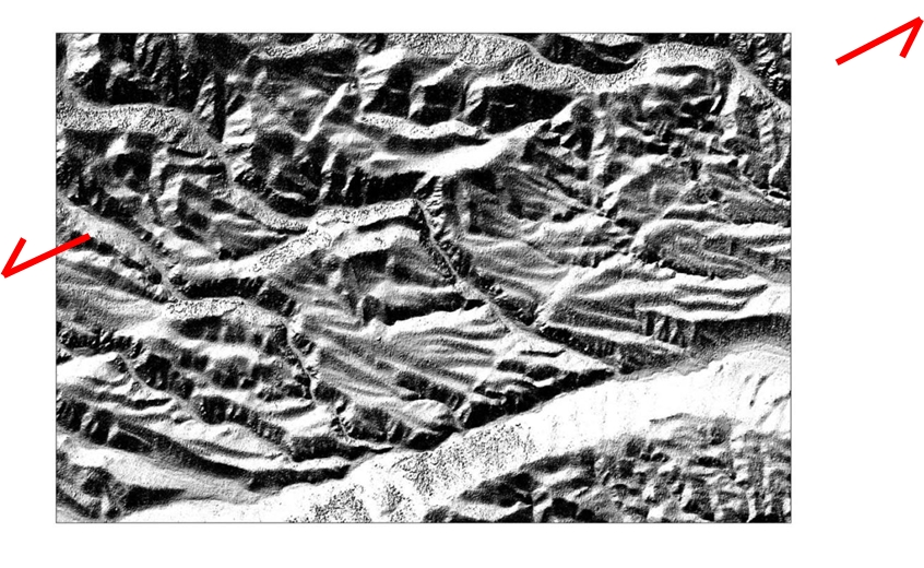 Stereo Pléiades imagery was used to produce a good DEM, revealing traces of active faulting in the landscape.